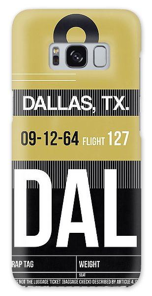 Dallas Galaxy S8 Case - Dallas Airport Poster 2 by Naxart Studio