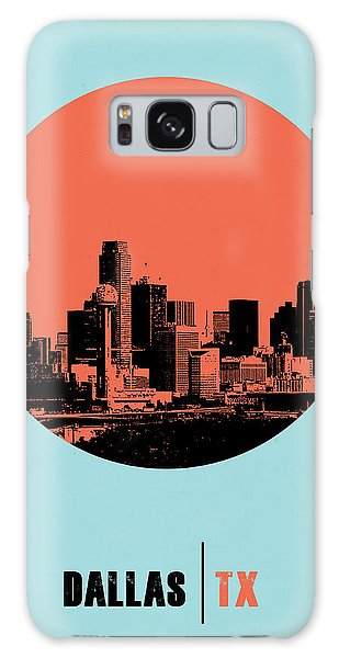 Dallas Galaxy S8 Case - Dallas Circle Poster 1 by Naxart Studio
