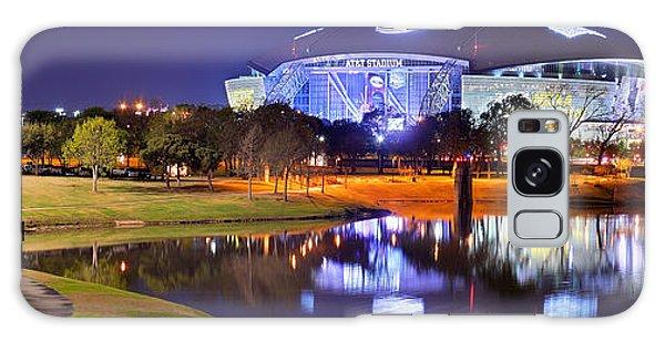 Dallas Cowboys Stadium At Night Att Arlington Texas Panoramic Photo Galaxy Case