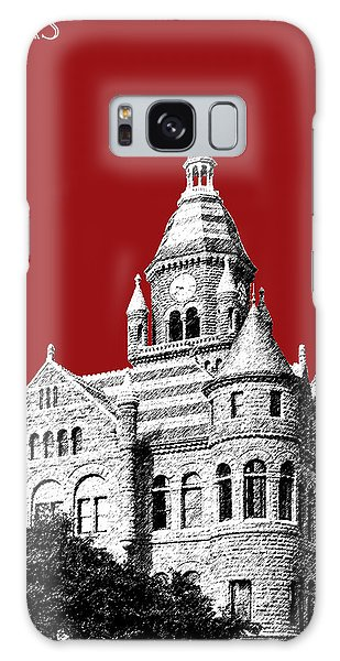 Dallas Skyline Old Red Courthouse - Dark Red Galaxy Case