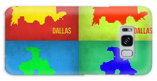 Dallas Galaxy S8 Case - Dallas Pop Art Map 1 by Naxart Studio