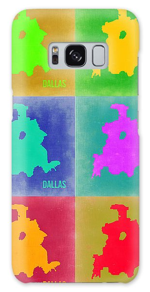 Dallas Galaxy S8 Case - Dallas Pop Art Map 3 by Naxart Studio