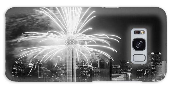 Dallas Reunion Tower Fireworks Bw 2014 Galaxy Case