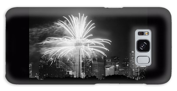 Dallas Reunion Tower Fireworks Bw 2014 Galaxy Case