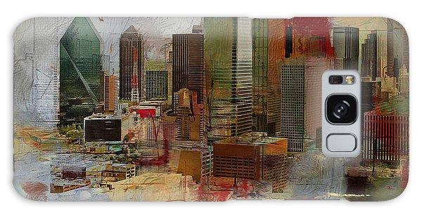 Dallas Skyline 003 Galaxy Case by Corporate Art Task Force
