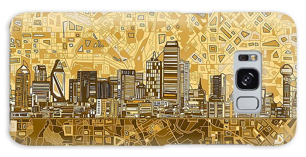 Dallas Skyline Abstract 6 Galaxy Case by Bekim Art
