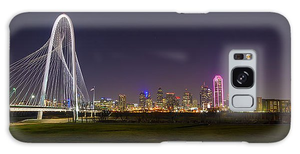 Dallas Skyline And Margaret Hunt Hill Bridge Galaxy Case