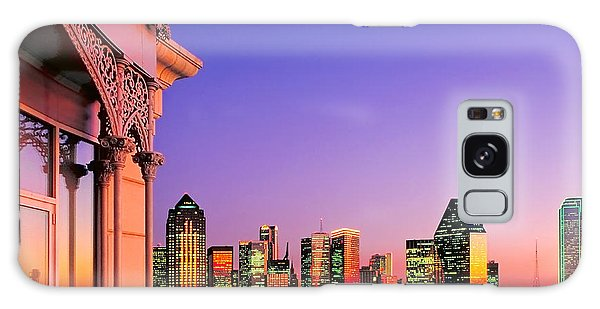 Dallas Skyline At Dusk Galaxy Case