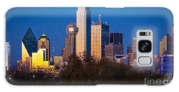 Dallas Skyline Galaxy Case by Inge Johnsson