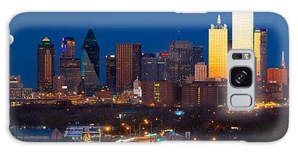 Dallas Skyline Panorama Galaxy Case by Inge Johnsson