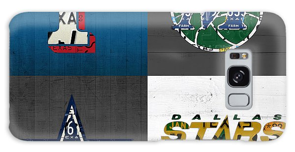 Recycle Galaxy Case - Dallas Sports Fan Recycled Vintage Texas License Plate Art Rangers Mavericks Cowboys Stars by Design Turnpike
