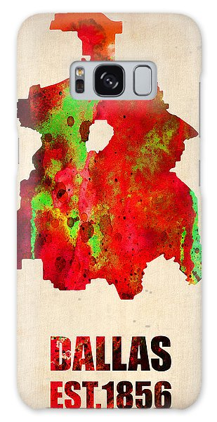 Dallas Galaxy S8 Case - Dallas Watercolor Map by Naxart Studio