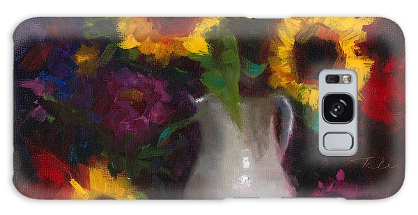 Dance With Me - Sunflower Still Life Galaxy Case