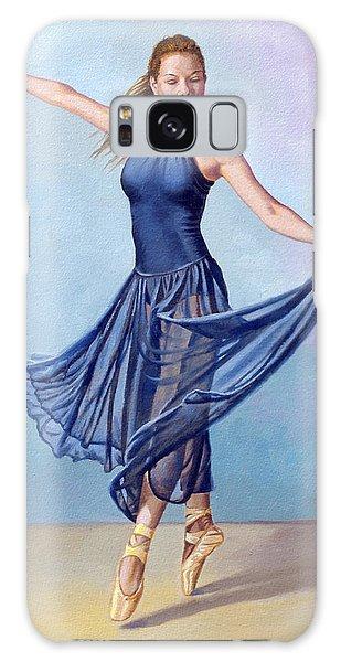 Dance Galaxy Case - Dancer In Dark Blue by Paul Krapf