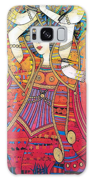 Dancer With Doves Galaxy Case