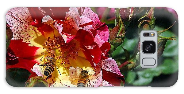 Dancing Bees And Wild Roses Galaxy Case by Absinthe Art By Michelle LeAnn Scott