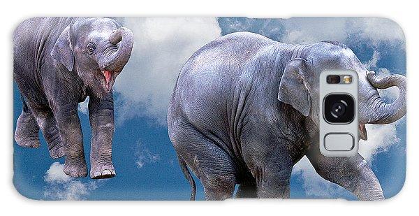 Dancing Elephants Galaxy Case by Jean Noren
