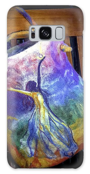 Dancing Goddess Needle Felted Bag Galaxy Case