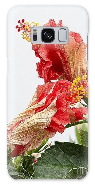Dancing Hibiscus Galaxy Case by Wanda Krack