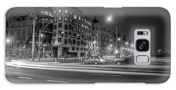 Dancing House  B-w Galaxy Case by Sergey Simanovsky