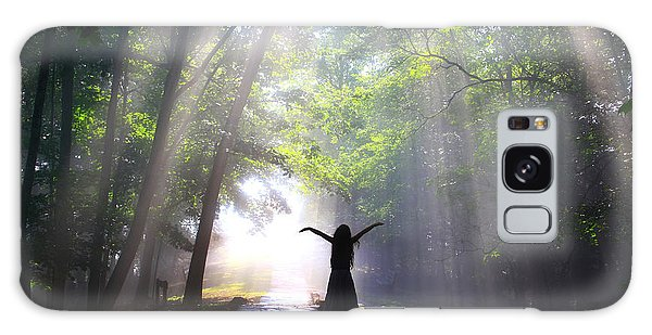 Dancing In God's Light Copyright Willadawn Photography Galaxy Case by Melissa Petrey