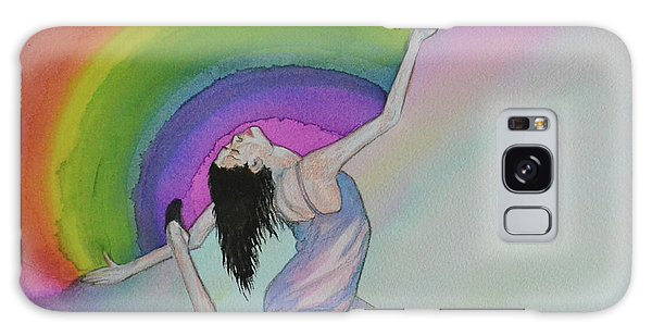 Dancing In Rainbows Galaxy Case by Suzette Kallen