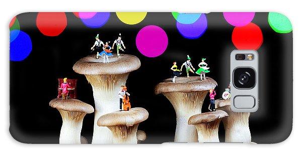 Dancing On Mushroom Under Starry Night Galaxy Case by Paul Ge