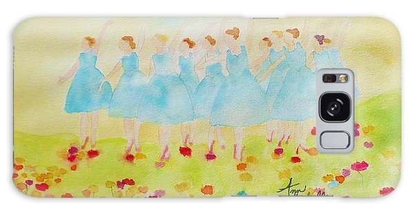 Dancing On Top Of The Flowers Galaxy Case by Ann Michelle Swadener