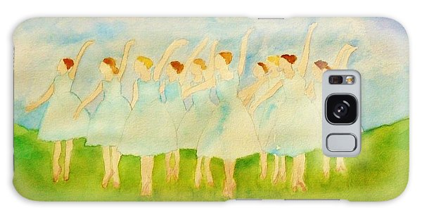 Dancing On Top Of The Grass Galaxy Case by Ann Michelle Swadener