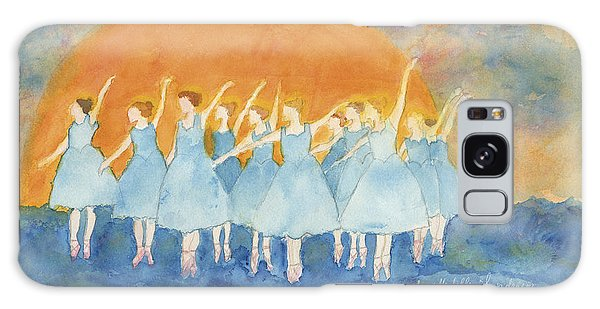 Dancing On Top Of The Sea Galaxy Case by Ann Michelle Swadener