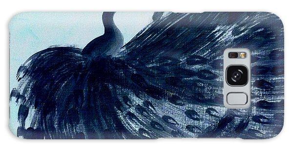 Dancing Peacock Aqua Galaxy Case by Anita Lewis