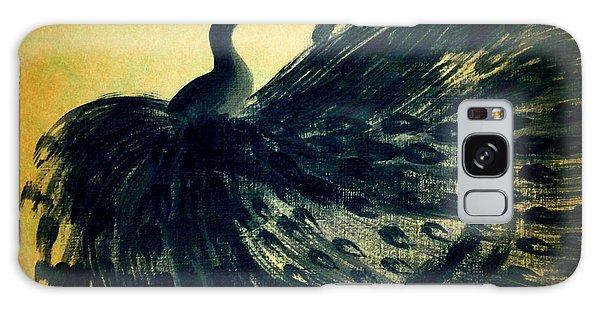 Dancing Peacock Gold Galaxy Case by Anita Lewis