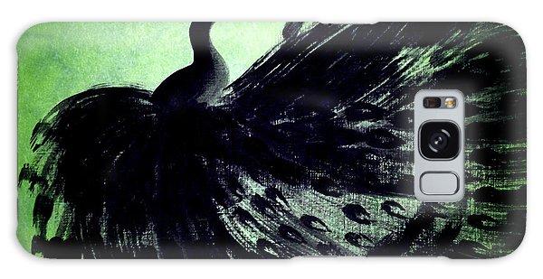 Dancing Peacock Green Galaxy Case by Anita Lewis