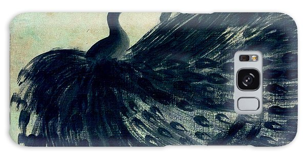 Dancing Peacock Mint Galaxy Case by Anita Lewis