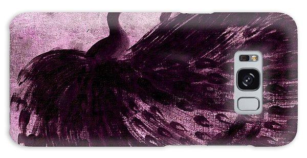 Dancing Peacock Plum Galaxy Case by Anita Lewis