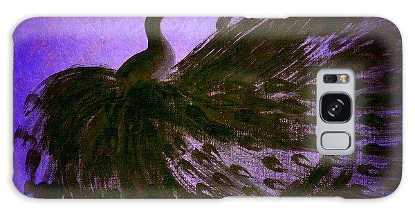 Dancing Peacock Vivid Blue Galaxy Case by Anita Lewis