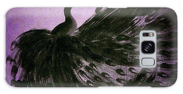 Dancing Peacock Vivid Purple Galaxy Case by Anita Lewis