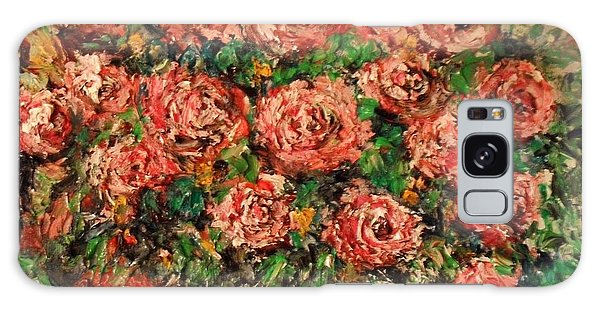 Dancing Red Roses Galaxy Case