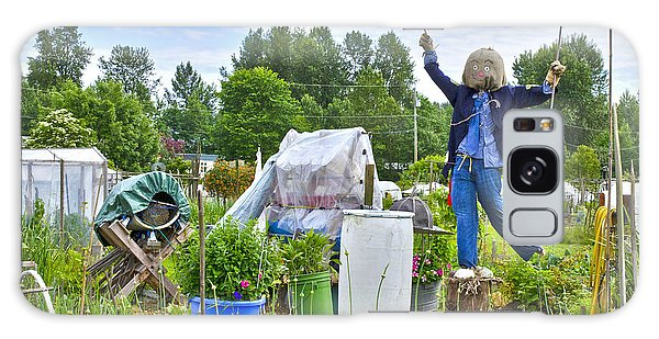 Dancing Scarecrow In The Garden Galaxy Case by Maria Janicki