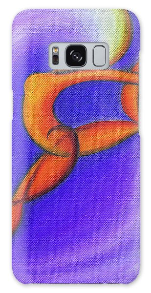 Dancing Sprite In Purple And Orange Galaxy Case