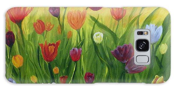 Dancing Tulips Galaxy Case