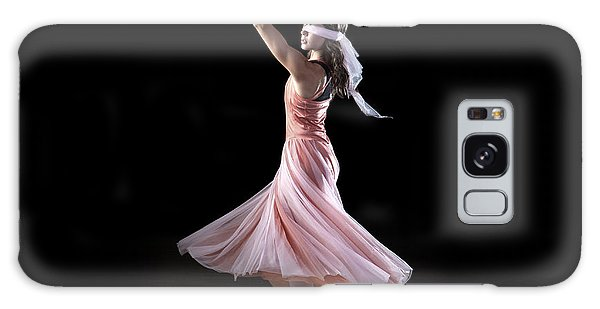 Dancing With Closed Eyes Galaxy Case