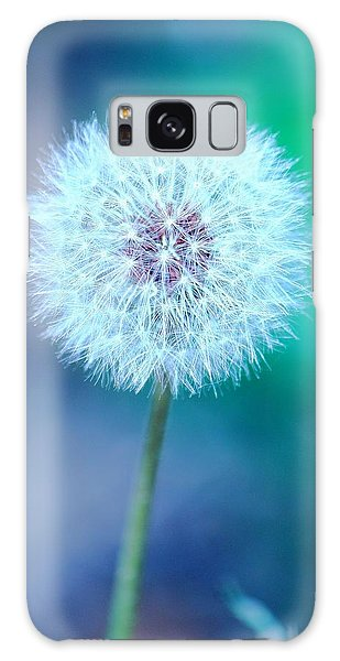 Dandelion Blue Galaxy Case by Elizabeth Budd