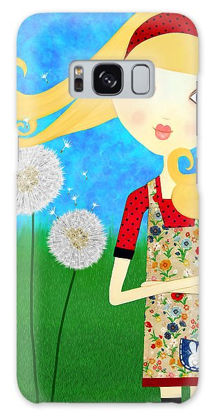 Dandelion Wishes Galaxy Case by Laura Bell