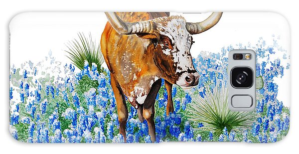 Da102 Longhorn And Bluebonnets Daniel Adams Galaxy Case