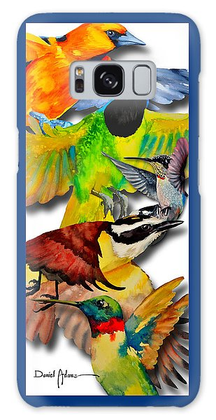Da131 Multi-birds By Daniel Adams Galaxy Case