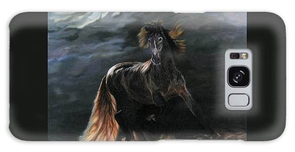 Dappled Horse In Stormy Light Galaxy Case by LaVonne Hand