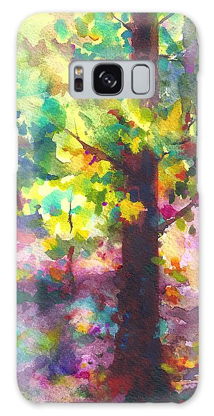 Dappled - Light Through Tree Canopy Galaxy Case