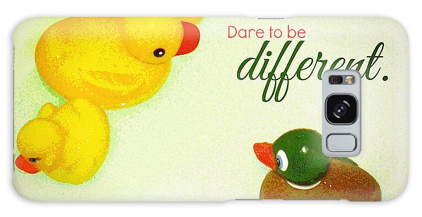 Dare To Be Different Galaxy Case by Valerie Reeves