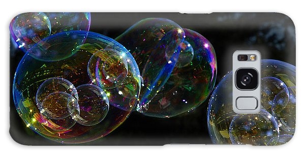 Dark Bubbles With Babies Galaxy Case by Nareeta Martin